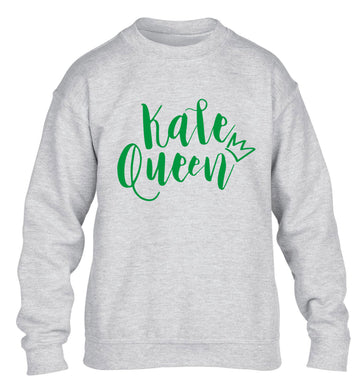 Kale Queen children's grey  sweater 12-14 Years