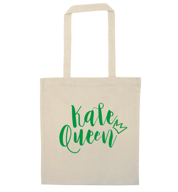 Kale Queen natural tote bag