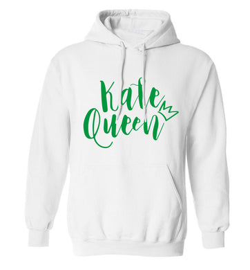 Kale Queen adults unisex white hoodie 2XL