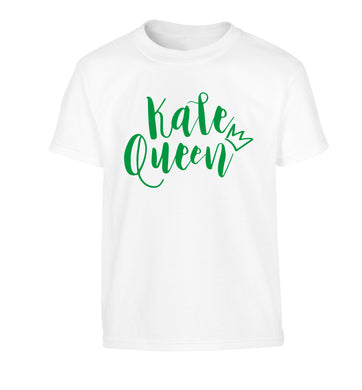 Kale Queen Children's white Tshirt 12-14 Years