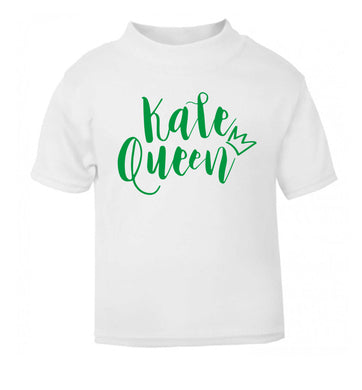 Kale Queen white Baby Toddler Tshirt 2 Years