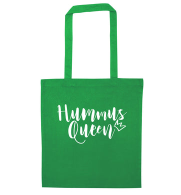 Hummus Hoe green tote bag