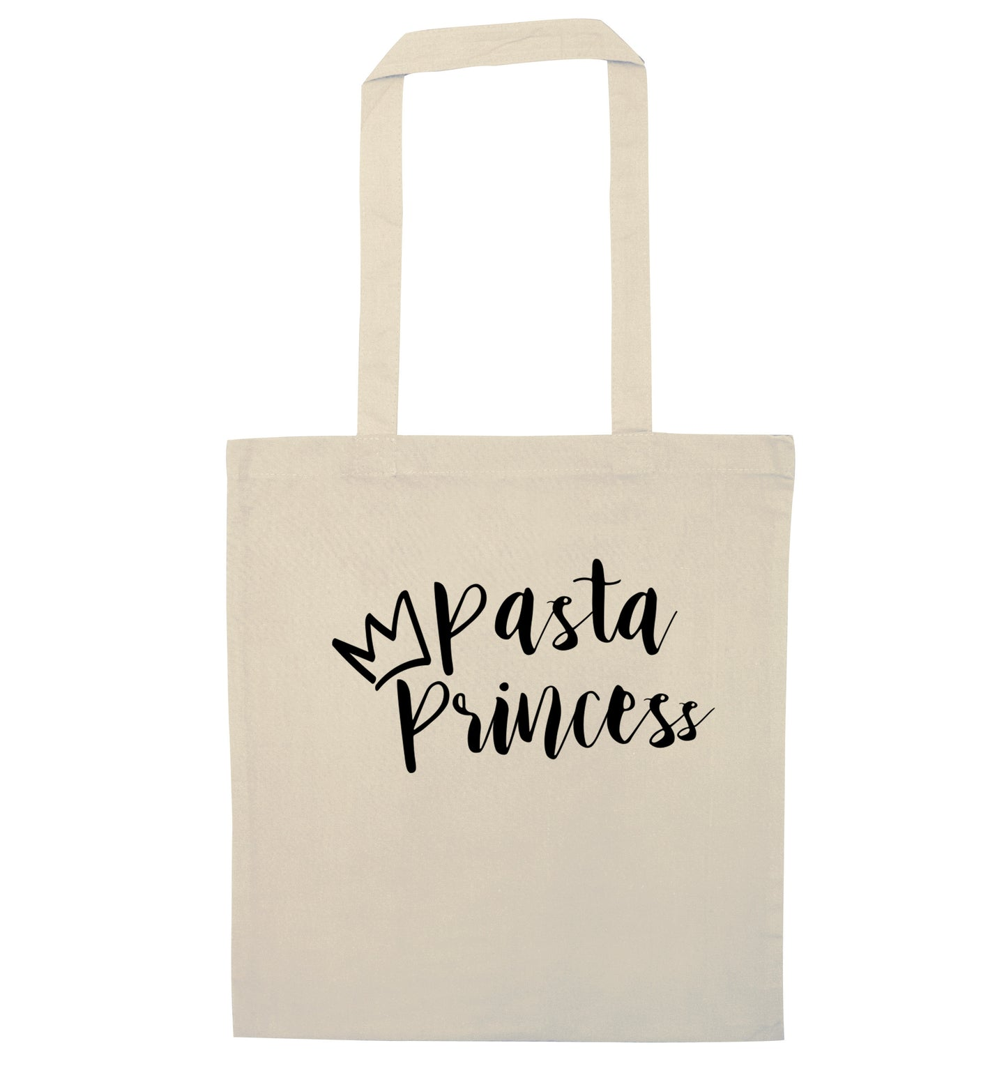 Pasta Princess natural tote bag