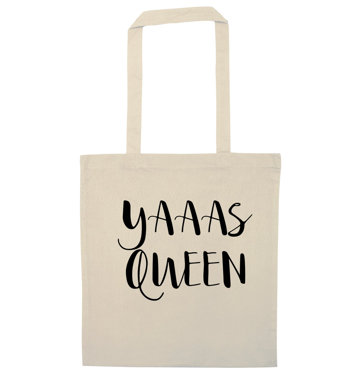Yas Queen natural tote bag