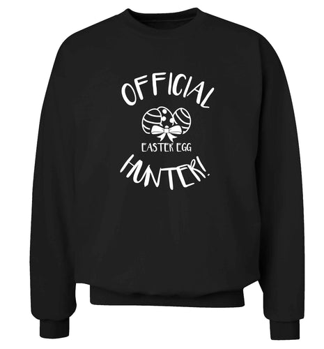 Official Easter egg hunter! adult's unisex black sweater 2XL