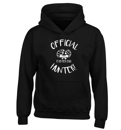 Official Easter egg hunter! children's black hoodie 12-13 Years