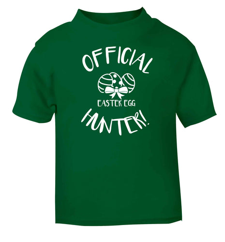 Official Easter egg hunter! green baby toddler Tshirt 2 Years