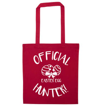 Official Easter egg hunter! red tote bag