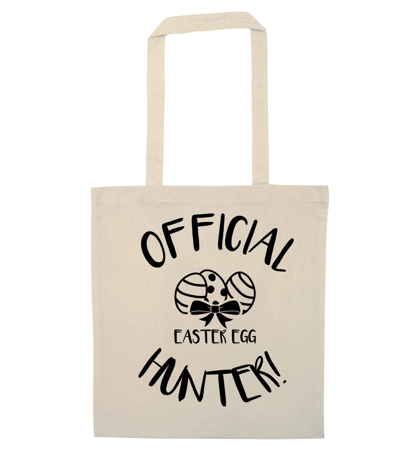 Official Easter egg hunter! natural tote bag