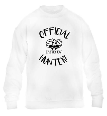 Official Easter egg hunter! children's white sweater 12-13 Years