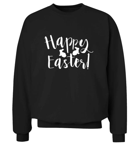 Happy easter adult's unisex black sweater 2XL