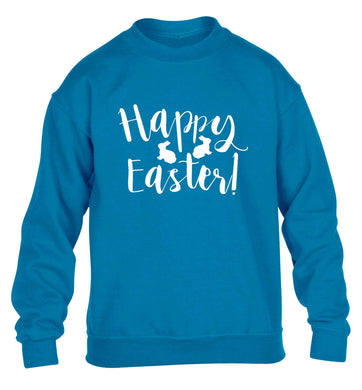 Happy easter children's blue sweater 12-13 Years