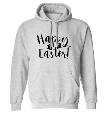 Happy easter adults unisex grey hoodie 2XL