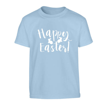 Happy easter Children's light blue Tshirt 12-13 Years