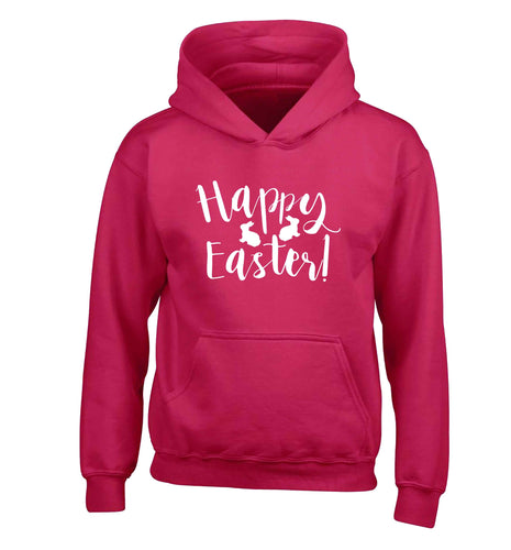 Happy easter children's pink hoodie 12-13 Years