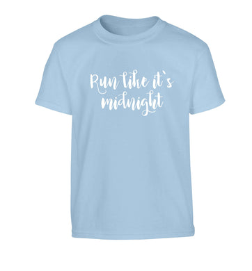 Run like it's midnight Children's light blue Tshirt 12-13 Years