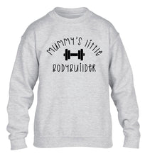 Mummy's little bodybuilder children's grey sweater 12-14 Years