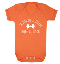 Grandad's little bodybuilder Baby Vest orange 18-24 months