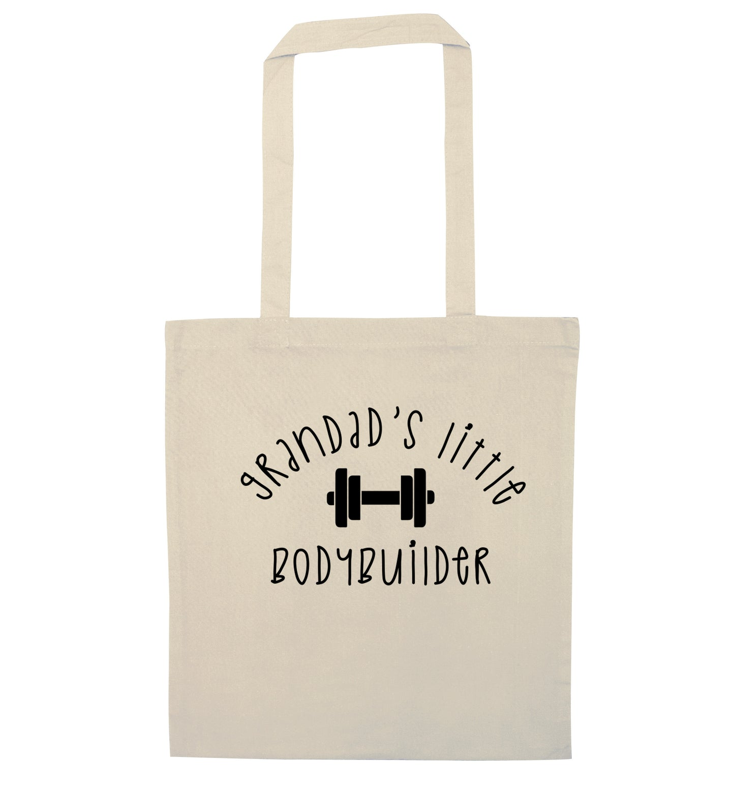 Grandad's little bodybuilder natural tote bag