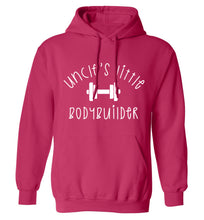 Uncle's little bodybuilder adults unisex pink hoodie 2XL