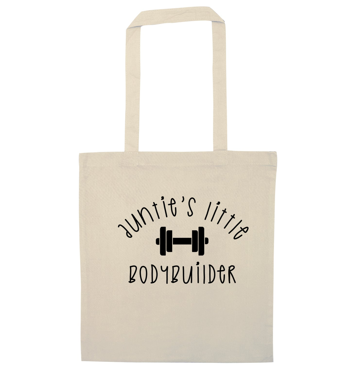 Auntie's little bodybuilder natural tote bag