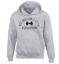 Big brother's little bodybuilder children's grey hoodie 12-14 Years