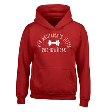 Big brother's little bodybuilder children's red hoodie 12-14 Years