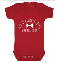 Big brother's little bodybuilder Baby Vest red 18-24 months