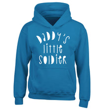 Daddy's little soldier children's blue hoodie 12-14 Years
