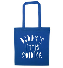 Daddy's little soldier blue tote bag