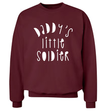 Daddy's little soldier Adult's unisex maroon Sweater 2XL