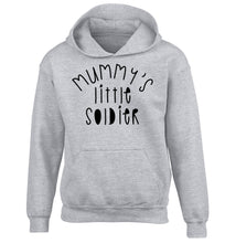 Mummy's little soldier children's grey hoodie 12-14 Years