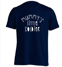 Mummy's little soldier adults unisex navy Tshirt 2XL