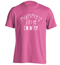 Mummy's little soldier adults unisex pink Tshirt 2XL