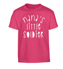 Nana's little soldier Children's pink Tshirt 12-14 Years