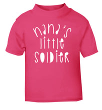 Nana's little soldier pink Baby Toddler Tshirt 2 Years