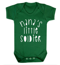Nana's little soldier Baby Vest green 18-24 months