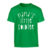 Nana's little soldier Children's green Tshirt 12-14 Years