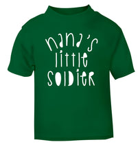 Nana's little soldier green Baby Toddler Tshirt 2 Years