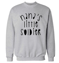 Nana's little soldier Adult's unisex grey Sweater 2XL