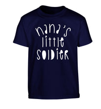 Nana's little soldier Children's navy Tshirt 12-14 Years