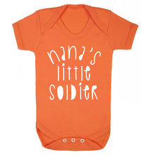 Nana's little soldier Baby Vest orange 18-24 months