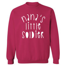 Nana's little soldier Adult's unisex pink Sweater 2XL