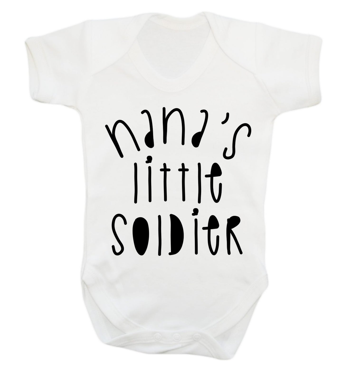 Nana's little soldier Baby Vest white 18-24 months