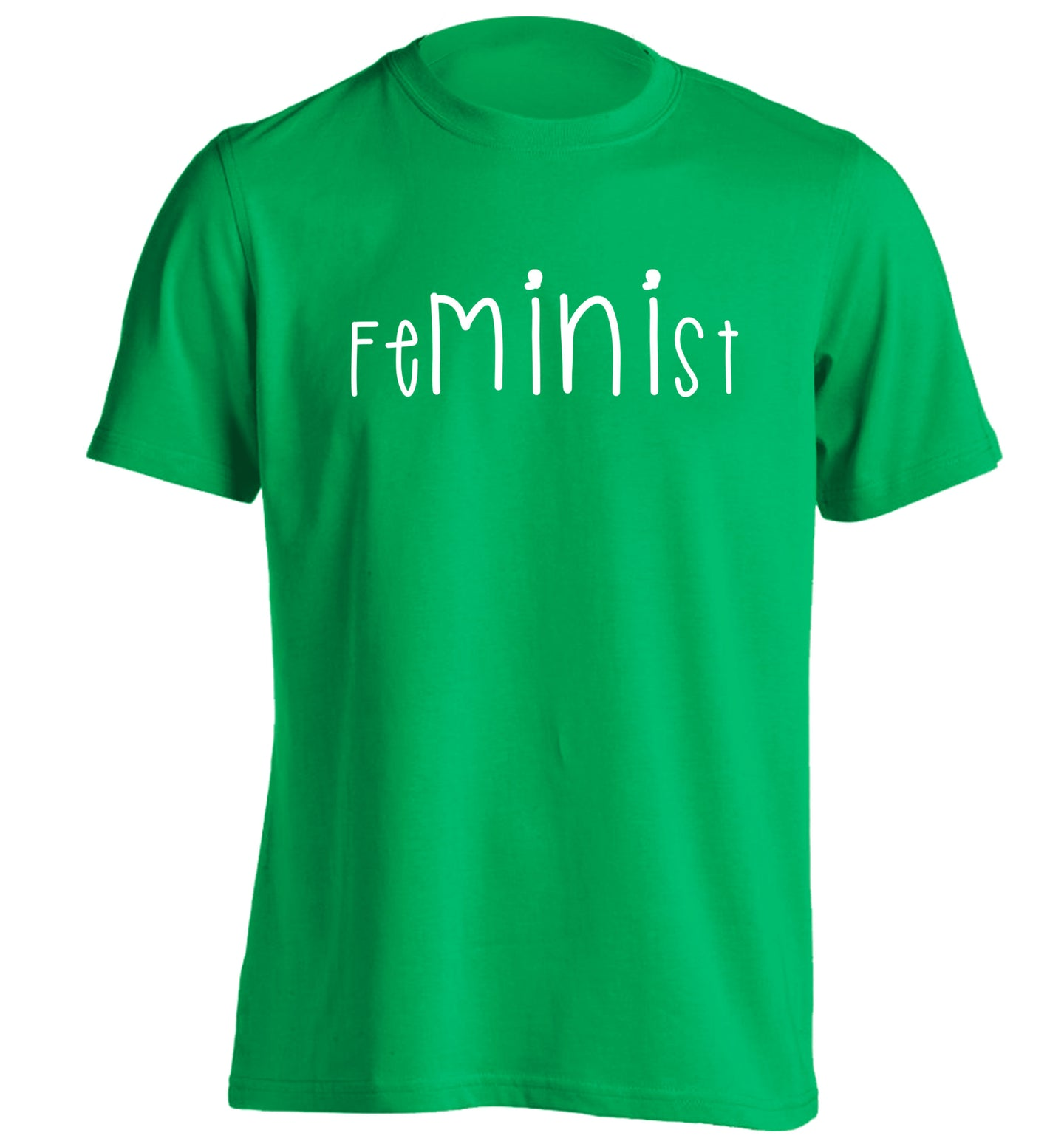 FeMINIst adults unisex green Tshirt 2XL