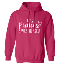 This princess saves herself adults unisex pink hoodie 2XL