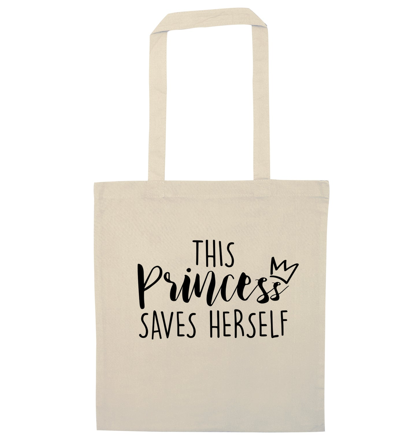 This princess saves herself natural tote bag