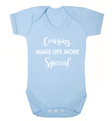 Cousins make life more special Baby Vest pale blue 18-24 months