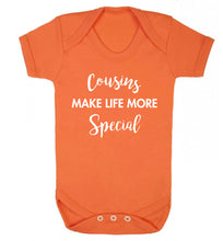 Cousins make life more special Baby Vest orange 18-24 months