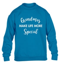 Grandmas make life more special children's blue sweater 12-14 Years